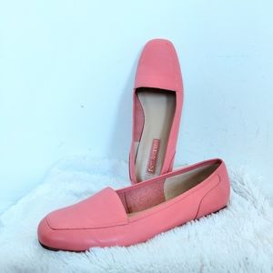 Enzo Angiolini Pink  Ballet Flat Leather Loafers 9